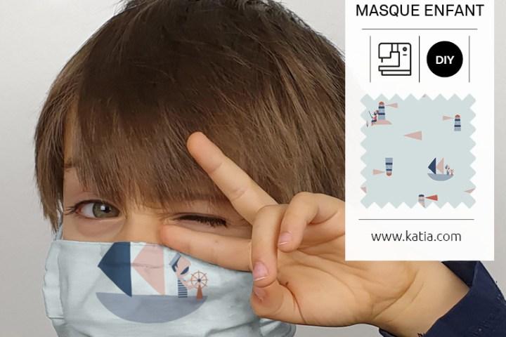 comment coudre un masque à filtre pour enfant 1