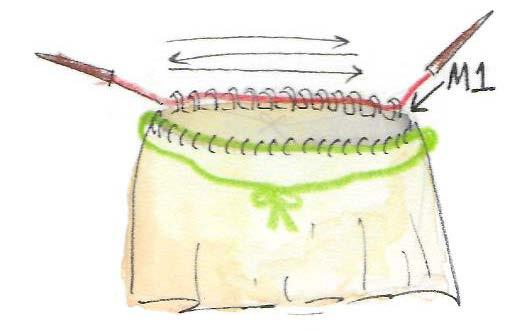 top bretelles tricot illustration sens