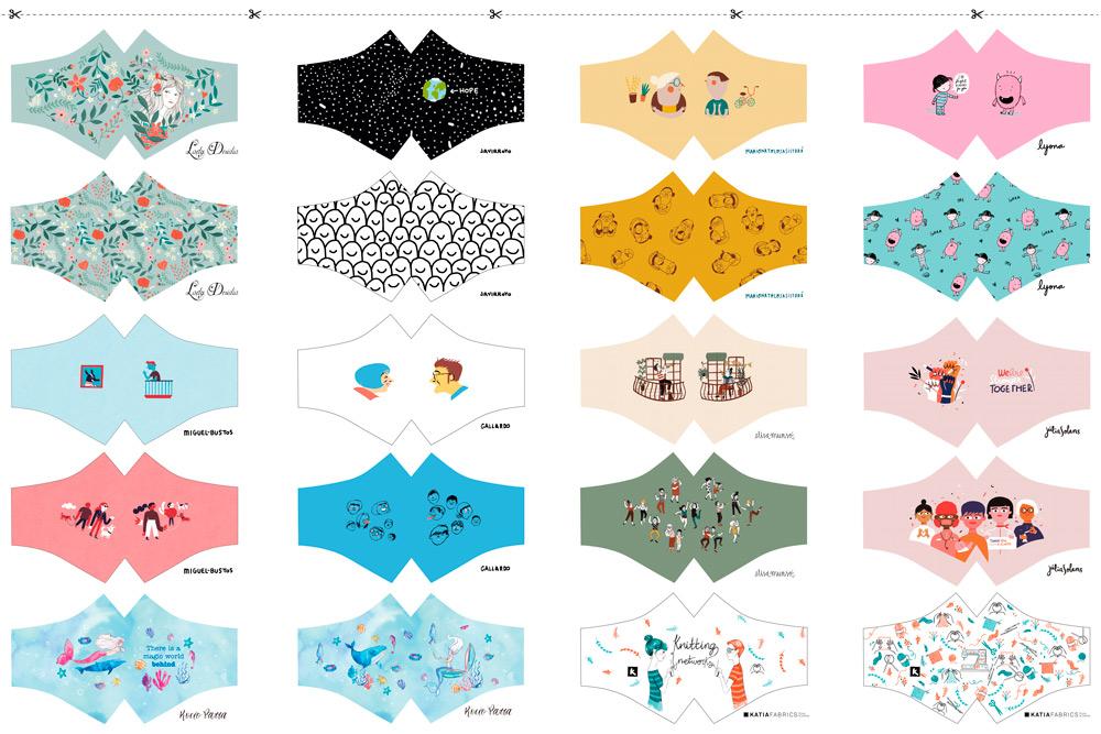 masques en tissu à coudre Illustrators feat