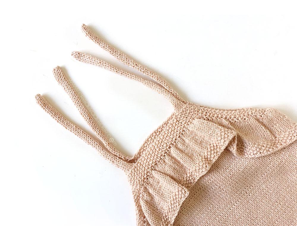tricoter un top à volant pour bébé - 15