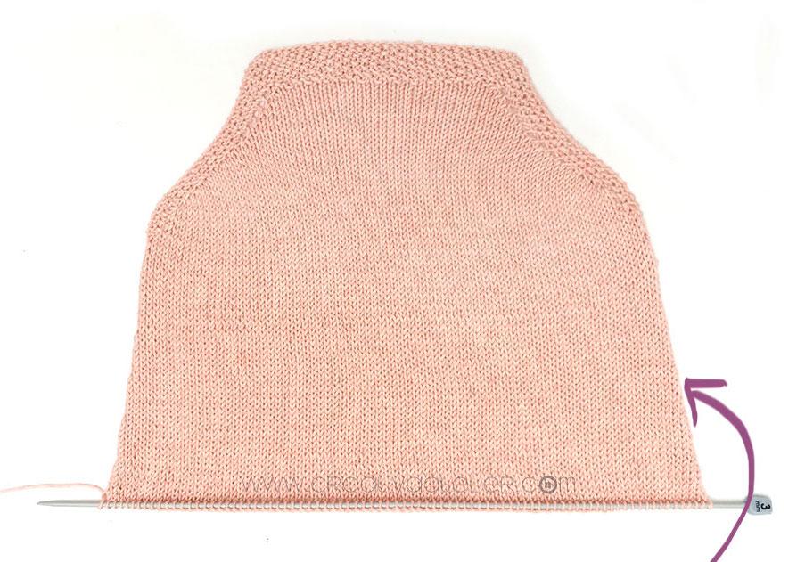 tricoter un top à volant pour bébé - 6