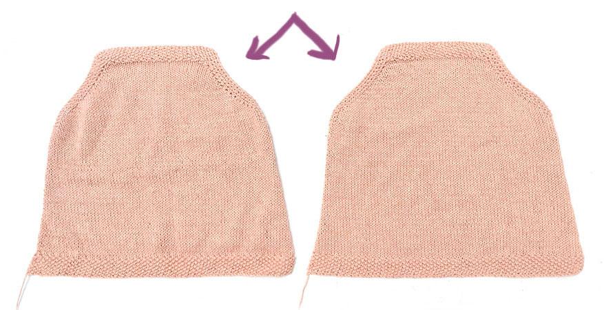 tricoter un top à volant pour bébé - 7