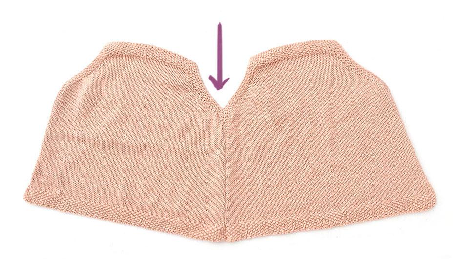 tricoter un top à volant pour bébé - 8