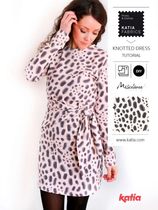 patron couture gratuit robe nouée devant