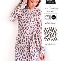 Patron de couture gratuit et tutoriel vidéo pour coudre une robe nouée très confortable