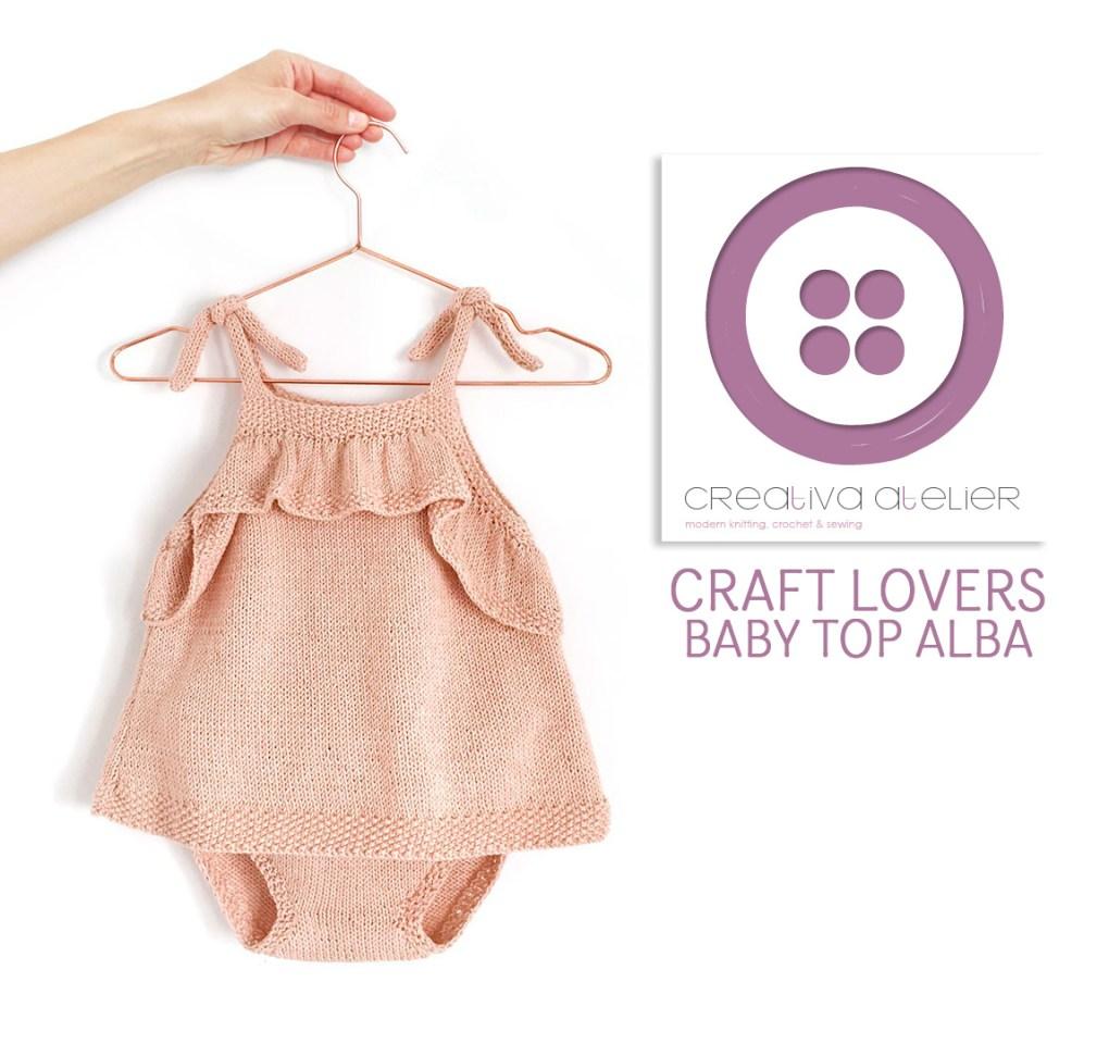 tricoter un top à volant pour bébé - 2