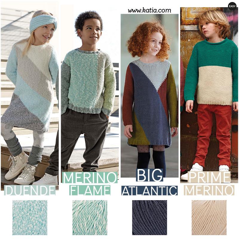 patrons au tricot bébé_colorblock