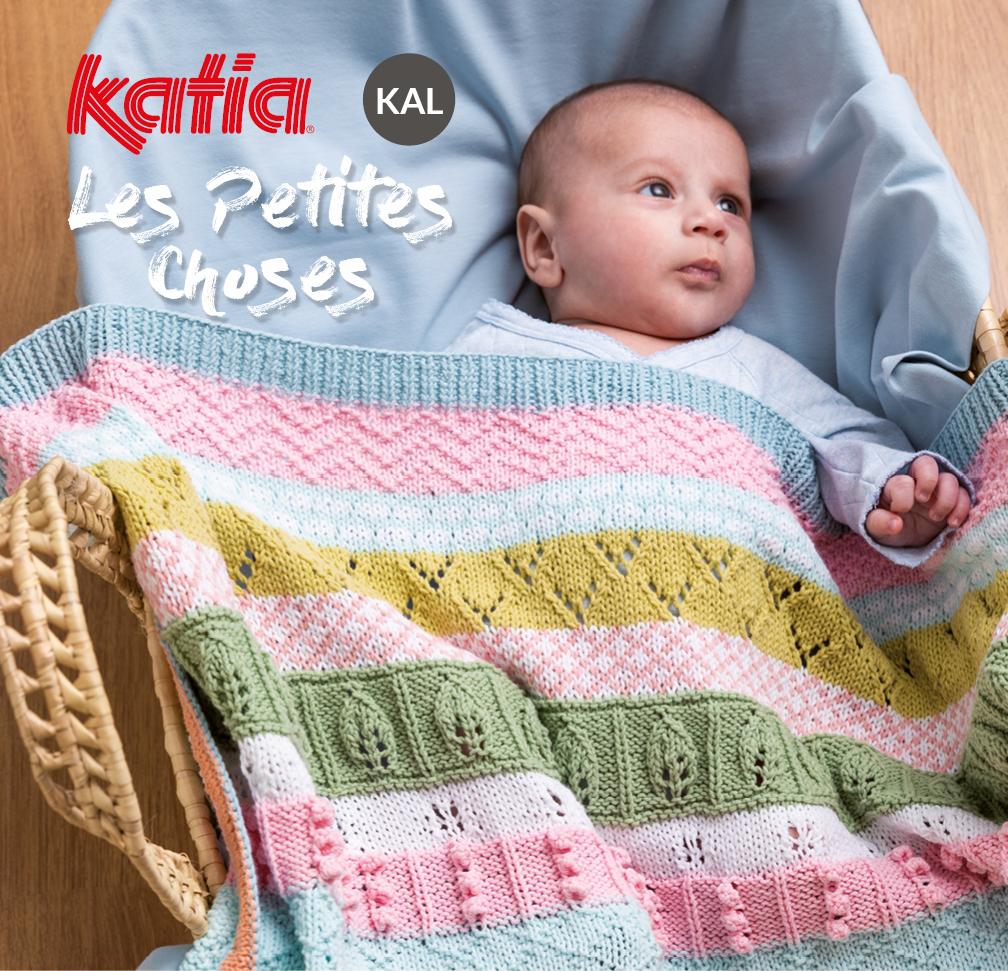 kal les petites choses couverture bébé tricot
