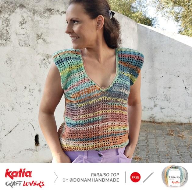 top en crochet décolleté Katia Paraiso