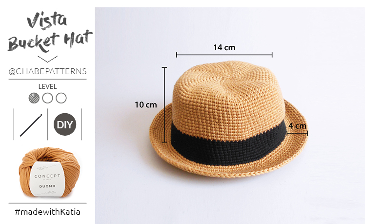 chapeau crochet bord court