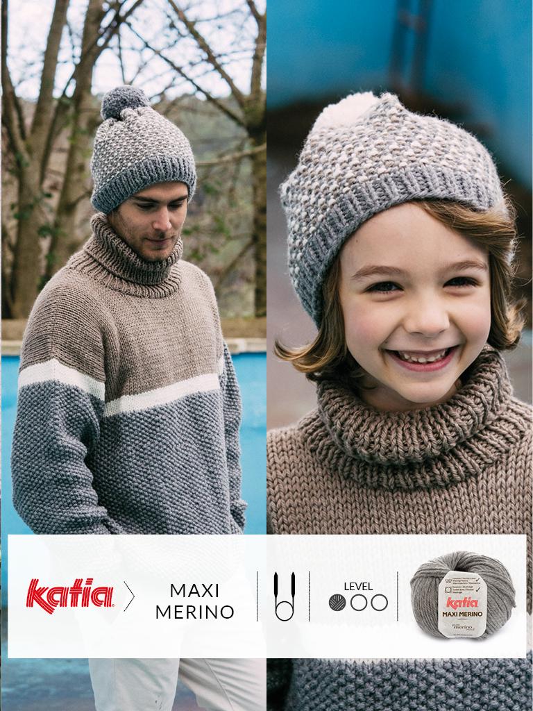 tricoter avec des aguilles circulaires bonnet