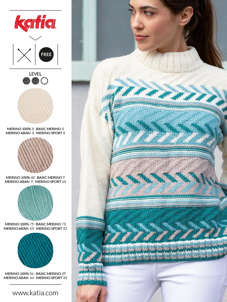 couleurs tendance et laine mérinos bleu