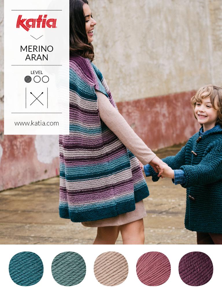 couleurs tendance et laine mérinos rayures
