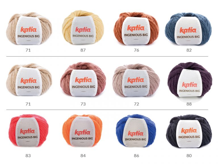 Katia Ingenious Big couleurs pull tricot bottom-up