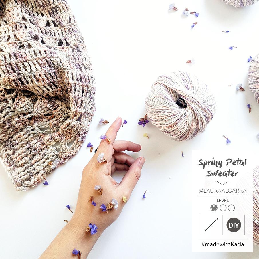 pull facile au crochet spring petal 2