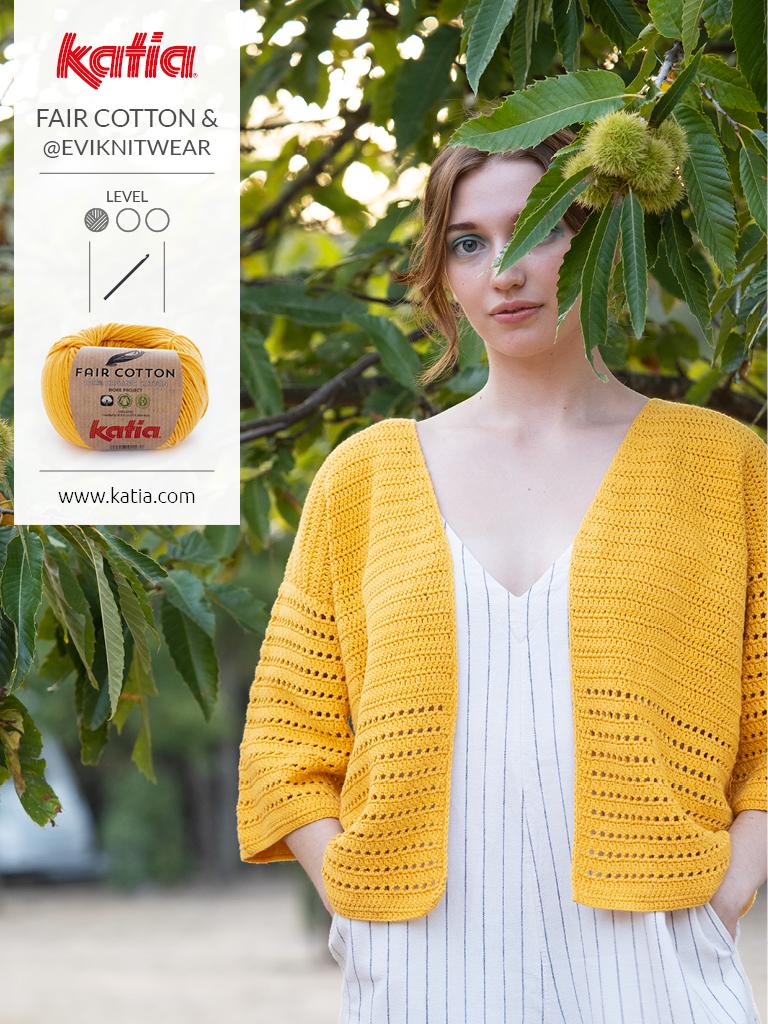 fair cotton crochet veste