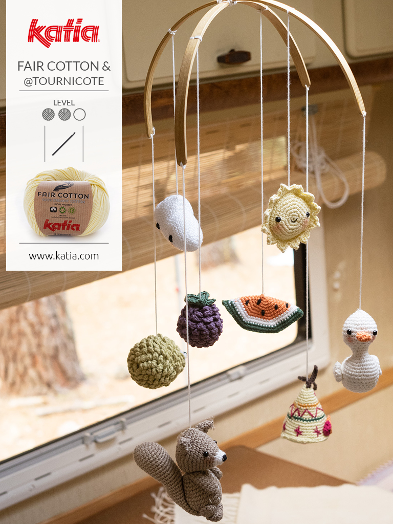 mobile bébé fair cotton crochet amigurumi
