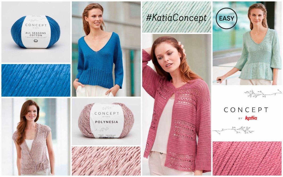 10 créations élégantes faciles à tricoter avec notre sélection spéciale de fils naturels Concept by Katia