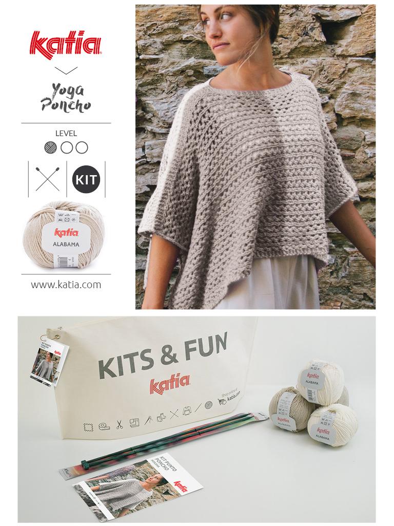 Kits pour débutants tricot poncho femme