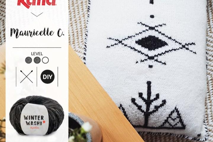 coussin berbère au tricot