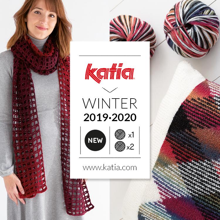 Prix 50% styles de mode plus grand choix 11 nouvelles laines Katia Automne Hiver 2019-2020: 1 pelote ...