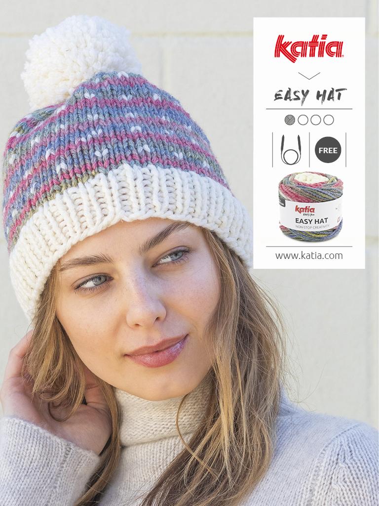 bonnet aiguilles circulaires tricot easy hat