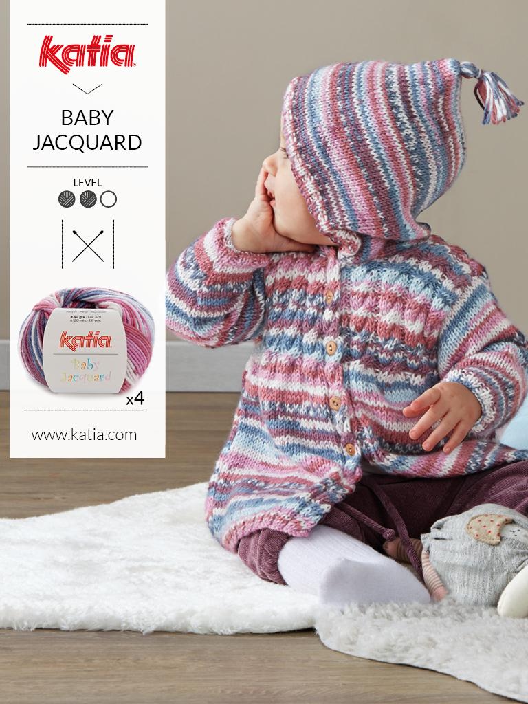 fils multicolores baby jacquard