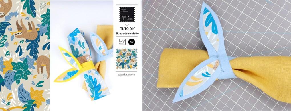 ronds de serviette sans couture slide