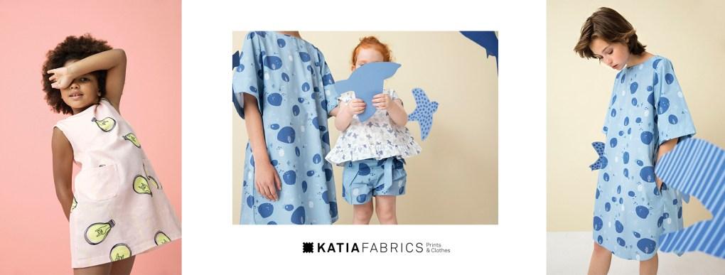 collection-tissus-katia-fabrics-printemps-ete-2019 blue japan