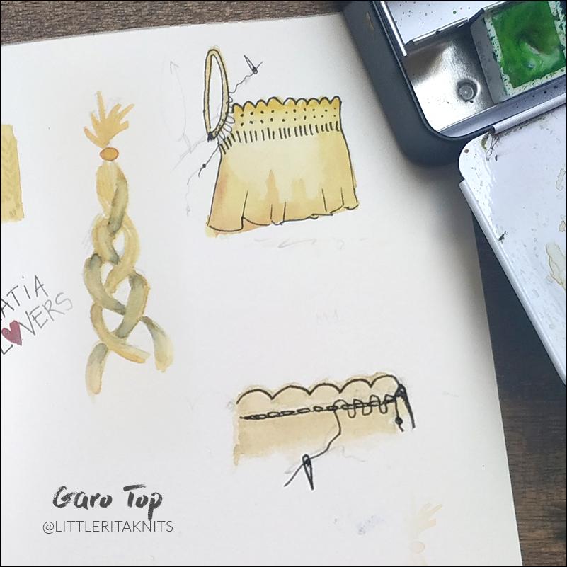 top bretelles tricot illustration