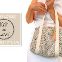 Impara a realizzare una semplice borsa di rafia tipo Tote Bag con il video e il modello all'uncinetto di Knit and Love