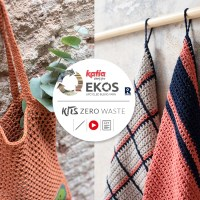 Kit Zero Waste della EKOS Collection: 12 modelli all'uncinetto a zero avanzo per una casa sostenibile