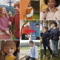 Ora di giocare! Scopri più di 30 modelli ai ferri per bambini fino a 12 anni nella nuova rivista Katia Bambini 99