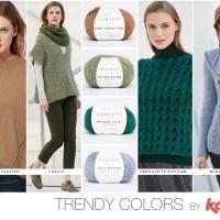 Vind de 4 trendy kleuren voor de Herfst Winter 17/18 in de nieuwe garens en het tijdschrift Katia Concept