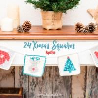 24 exclusieve Xmas Squares voor het breien van elke dag van de Adventskalender en een Kerstloterij