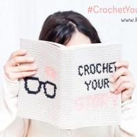 Leer tapestry haken met onze gehaakte 'Crochet your Story' boekenkaft