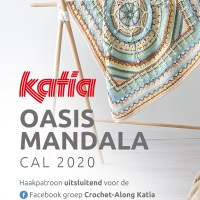 Oasis Mandala CAL 2020: doe mee en haak een prachtige babydeken met Katia Basic Merino!