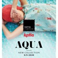 Nieuwe Katia Fabrics lente/zomer 2020 collectie: ontdek AQUA met daarin 58 nieuwe stoffen en magazines.