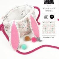 Eenvoudige knutselprojecten voor kinderen: paashaas-tas naaien zonder naaimachine 🐰