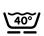 Lavable en machine à 40º, programme laine
