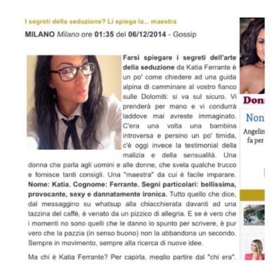 Intervistata-laMaestra-diSeduzione - katia ferrante -