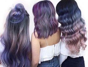 violet mood hair look