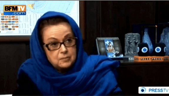 Christine Boutin voilée sur une chaine iranienne suscite des critiques