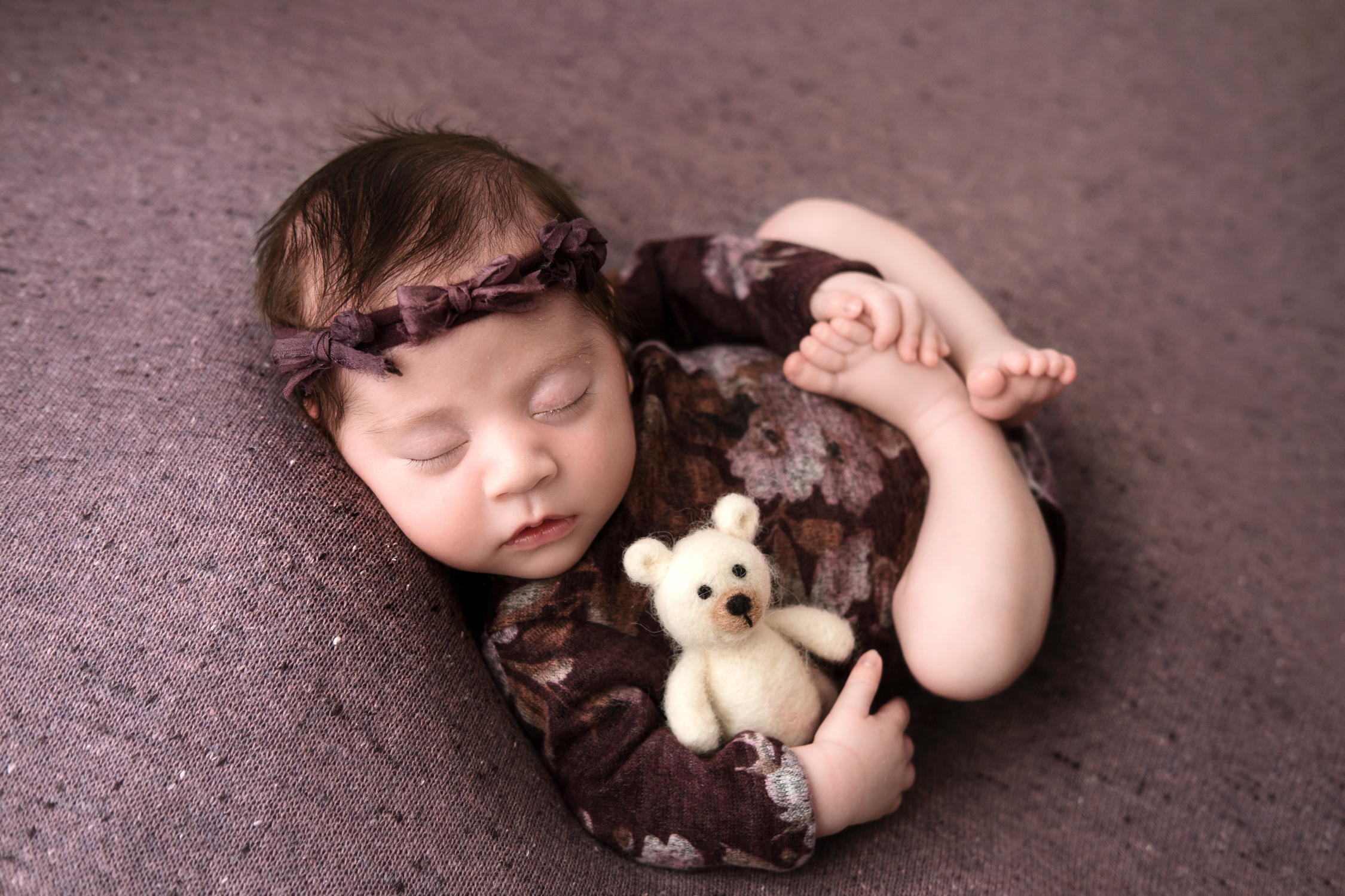 newborn session baby girl