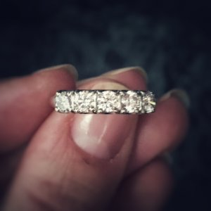 Art Deco 14kt White Gold .55ct Diamond Engagement Ring (Antique)