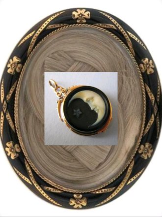 Victorian Mourning Brooch inset: Victorian Cameo Photo Credit: Pinterest