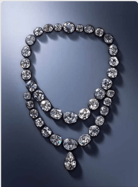 A Georgian Diamond Necklace once belonging to Queen Amélie-Auguste. Photo credit: Pinterest