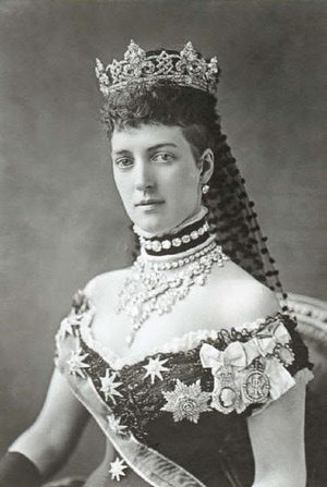 Queen Alexandra, the Princess of Wales Wearing Dog Collar Necklace - Photograph by Alexander Bassano