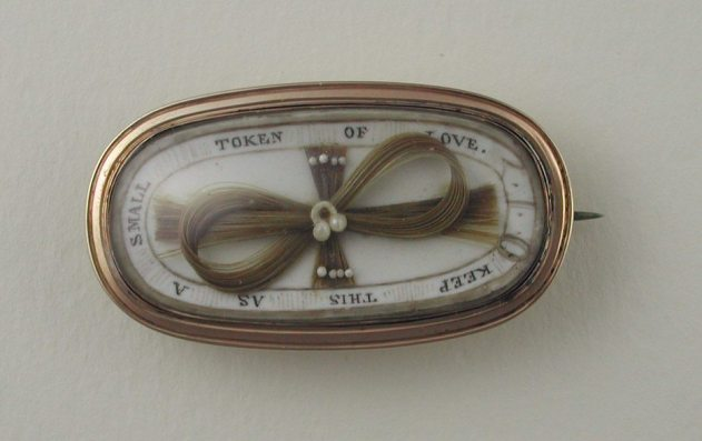 Victorian Token Of Love Mourning Brooch