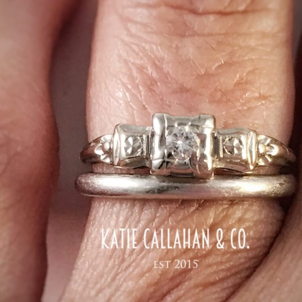 Elegant 3 Stone Edwardian Diamond Engagement Ring (Antique)